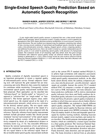 AES E-Library » Single-Ended Speech Quality Prediction Based