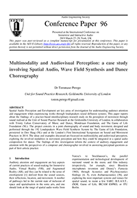 AES E-Library » Multimodality and Audiovisual Perception: A