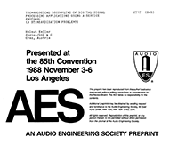 AES E-Library » Technological Decoupling of Digital Signal