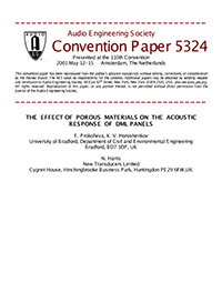 AES E-Library » The effect of porous materials on the acoustic
