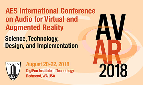 2018 International Conference on Audio for Virtual and Augmented Reality