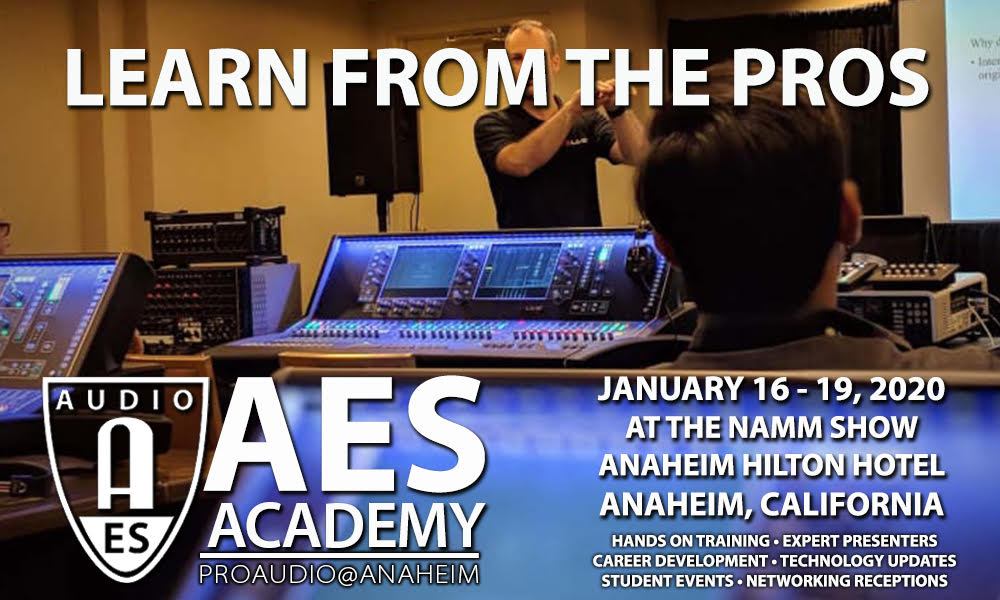 AES Academy at The 2020 NAMM Show