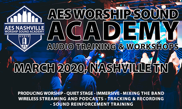 AES Worship Sound Academy