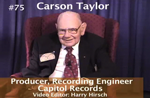 Oral History DVD: Carson Taylor