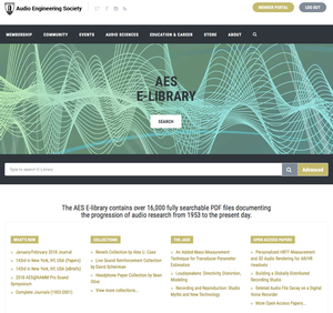 Institutions and Organizations Benefit from AES E-Library Subscriptions