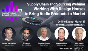 AES Audio Product Education Institute Invites Design Houses to Discuss How to Quickly Bring Audio Products to Market