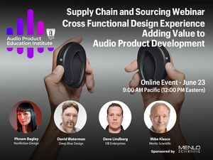AES APEI Webinar to Explore How Design Houses Add Value to Audio Product Development