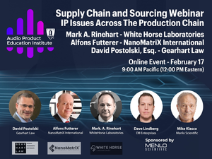AES Audio Product Education Institute Explores Intellectual Property Issues Across the Production Chain in New Webinar, February 17, 2021